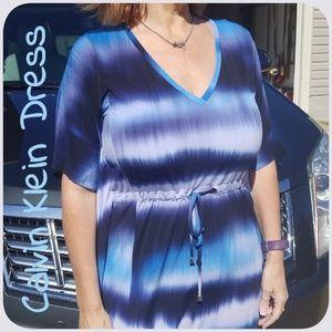 Calvin Klein Blue Tie Dye Butterfly Dress.